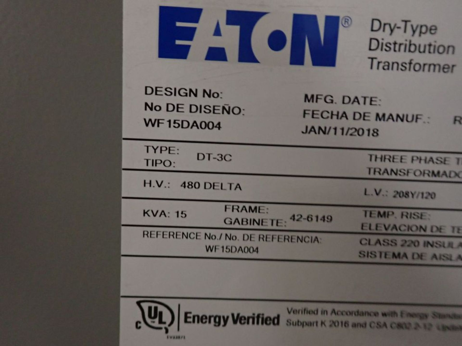 Eaton Freedom 2100 Series Motor Control Center | (2) F208-30A; (1) F208-40A; (1) FDRB-50A; (2) - Image 19 of 37