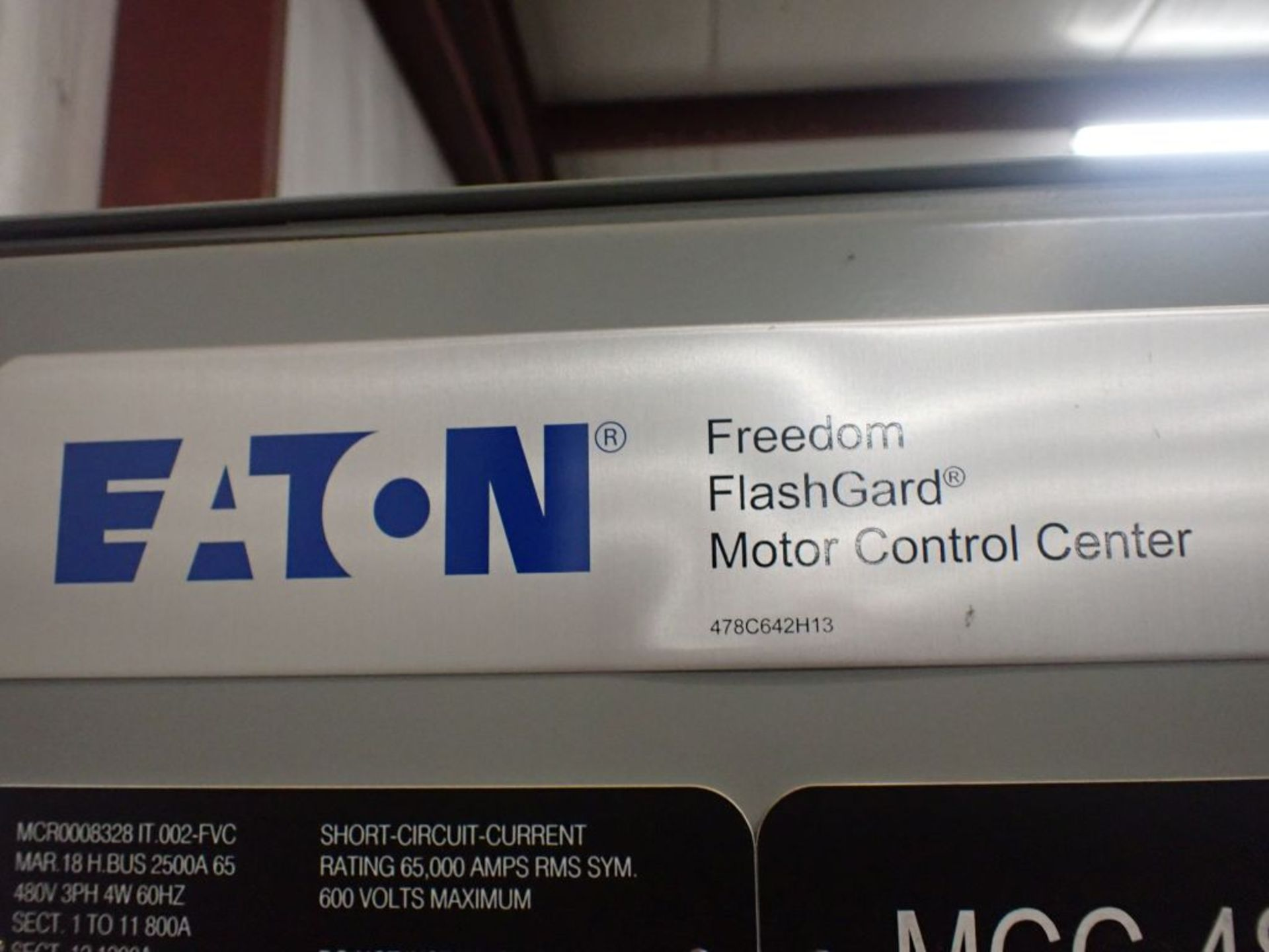Eaton Freedom Flashgard Motor Control Center   (3) F216-15A-10HP; (1) FDRB-125A, with 150A - Image 15 of 57