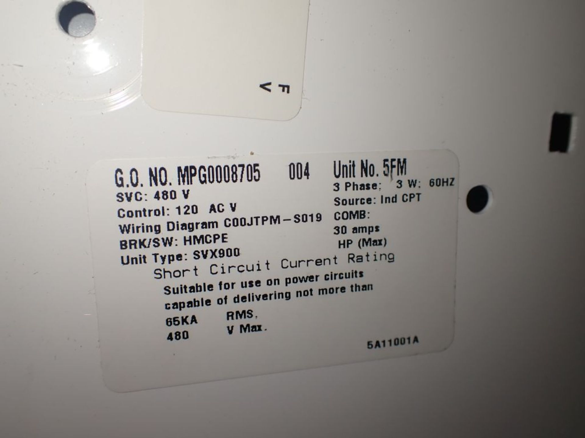 Eaton Freedom 2100 Series Motor Control Center | (2) F206-15A-10HP; (1) FDRB-250A; (1) FDRB-400A; ( - Image 25 of 104