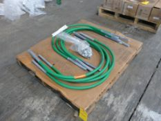 Lot of Nuts and (8) Pipe Supports - (1) Bag of Nuts; (8) 24' Coated Pipe Supports, Part No.