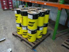 Lot of (36) Drums of ESAB Flux 10.72 - Part No. 1072000CBI; 55 lbs Each; Tag: 214962