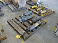 Lot of (4) Assorted Hand Pumps - (3) Enerpac Model No. P80, 10,000 Max PSI; (1) Simplex; Tag: