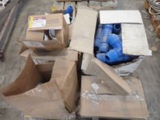 Lot of Assorted Components - Includes: 1/4 Bend PVC Hub; Plugs; Tee Fast Pipes; Tag: 214851