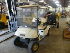 EZ-Go Gas Powered Golf Cart - 2-Seater; Hitch; Metal Carry Compartment; Tag: 215330
