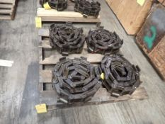 Lot of (4) Renold Jeffrey Heavy Duty Knuckle Chains - Tag: 215901