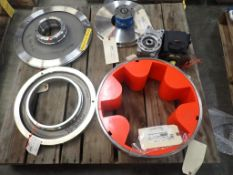 Lot of Assorted Components - Includes:; Coupling Cover Ring; Vane Pump; Suction Cover Liner; Tag: