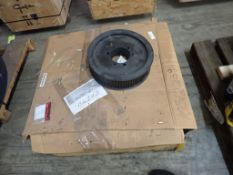 """Lot of (1) Roller Chain and (1) Sprocket - (1) Riveted Roller Chain Part No. 240-2RN, Size: 3""""; ("""