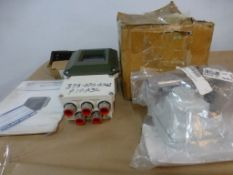 Lot of Assorted Components - Includes:; Magnetic Flow Converter; Indicator; Gauge; Tag: 216136