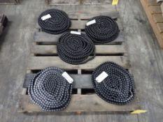 Lot of (5) Tsubaki Roller Chains - PartNo. 10512241; Tag: 215947
