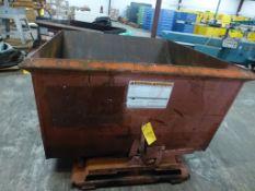 Galbreath 1/2 Yard Self Dumping Dump Hopper - Model: LH 150; 2,000 Lb Capacity; Tag: 219566