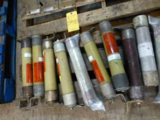 Lot of (10) Assorted Fuses - 130A; 4.8-6.8 KVA; Brands Include:; GE; Bussmann; Tag: 219519
