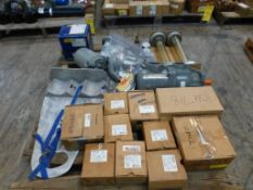 Lot of Assorted Components - Includes:; Shaking Water Flow Meter; Gauges; Gear Box Valve; Tag: