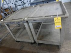 Lot of (2) Rubbermaid Carts - Tag: 218533