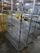 Lot of (2) Rolling Wire Racks - Tag: 218478