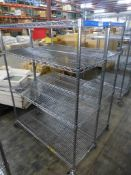 Lot of (2) Rolling Wire Racks - Tag: 218475