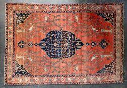 BRÜCKE, Isfahan, um 1900, antik, ca 136 x 199 cm = 2,7 m²
