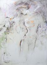 "VALADIÉ, Jean Baptiste (*1933 Brive-la-Gaillarde), Farblithografie, ""Nur für Dich"","