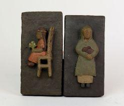 SCHUCHT, Gerhard/ Bildhauer in Worpswede, dunkler Ton,