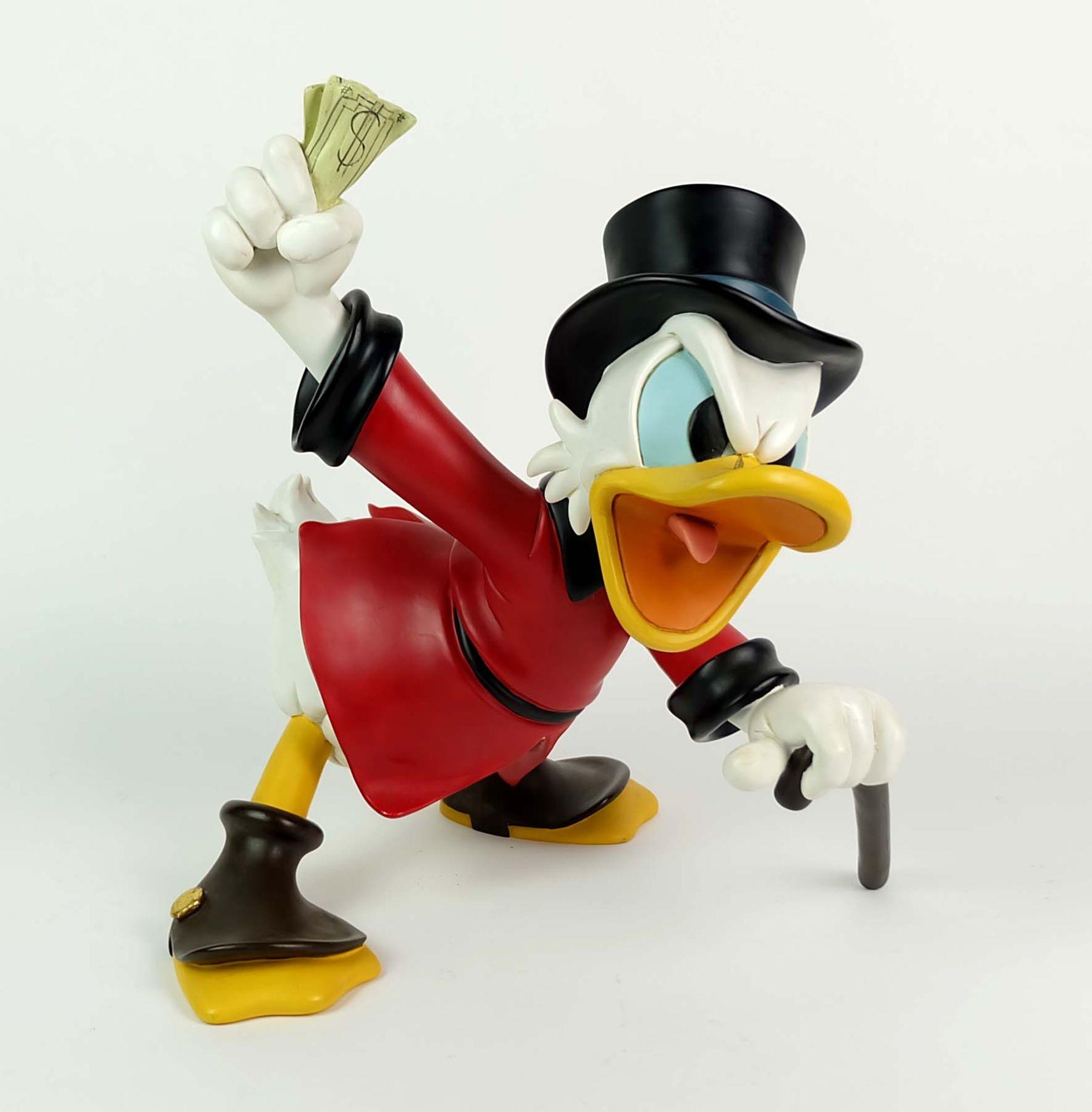 FIGUR, Disney, Dagobert Duck mit Geldscheinbündel,