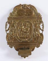 WEIHWASSERBECKEN, Bronze, L 19,