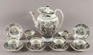 KAFFEESERVICE, Keramik, bestehend aus