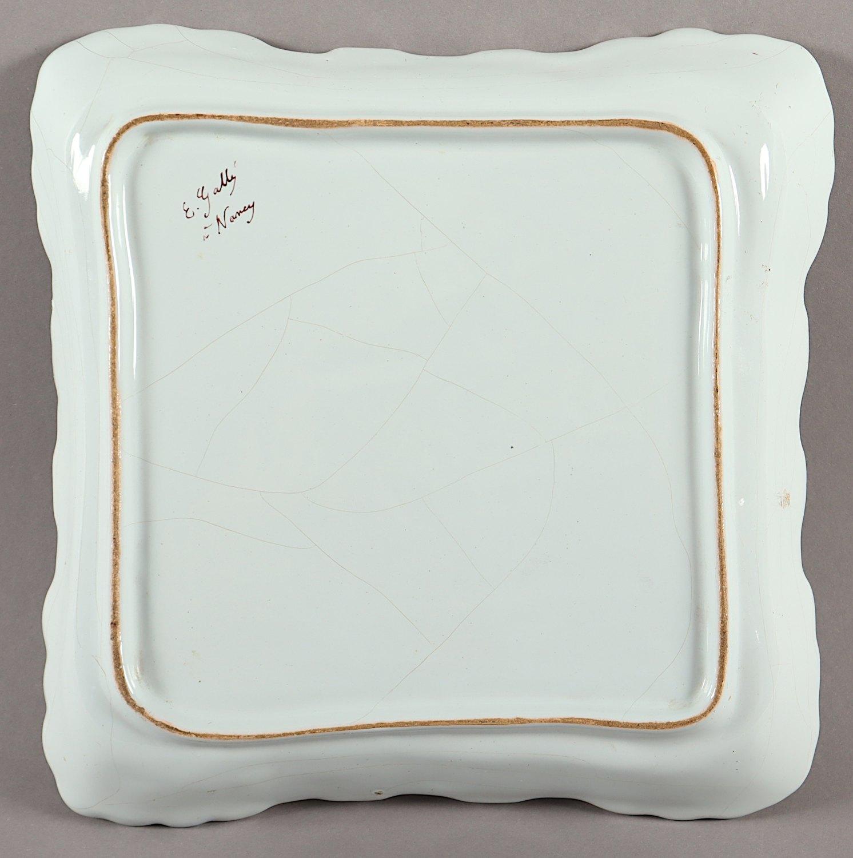 SCHALE, Fayence, polychrom bemalt, - Image 2 of 2