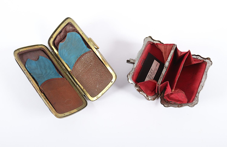 VIER ETUIS, Leder, Metall, farbige - Image 3 of 3
