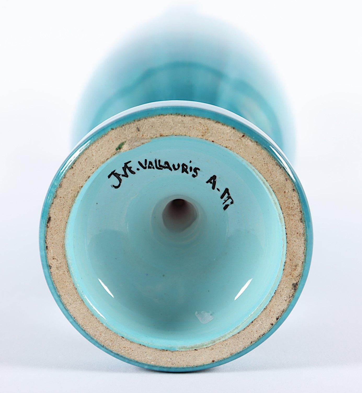 AMPHORE, Keramik, blau glasiert, H 35, - Image 2 of 2