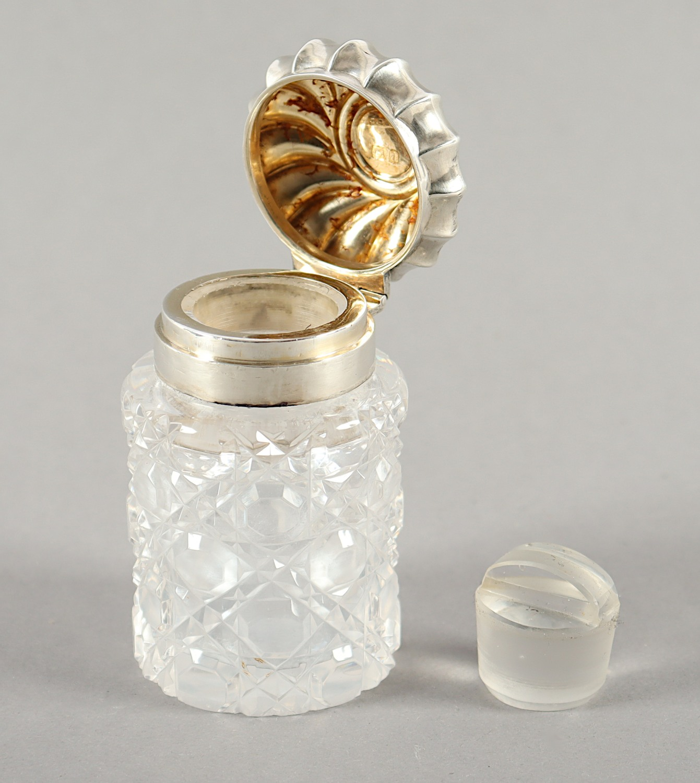 FLAKON, farbloses Kristall, - Image 2 of 2