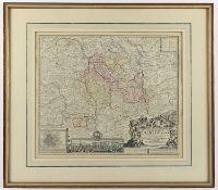 HILDESHEIM, kolorierter Kupferstich,
