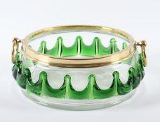 SCHALE, farbloses Glas, plastische