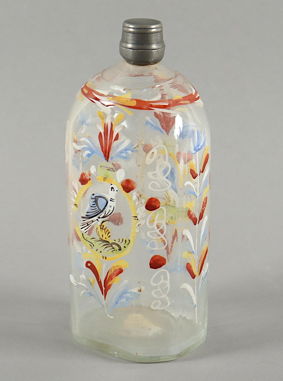 KLEINE FLASCHE, farbloses Glas, - Image 2 of 3