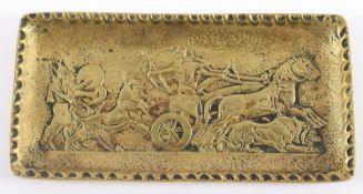 <de>KLEINE SCHALE, Bronze, Schlachtenszene nach antikem Vorbild, L 15, gemarkt, Max LE VERRIER, um 1