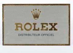 ROLEX-HÄNDLERSCHILD, Metall, 10 x 16,