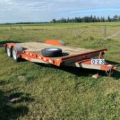 18 ft. PTL trailer with spare tire GVRW 7000 lbs.
