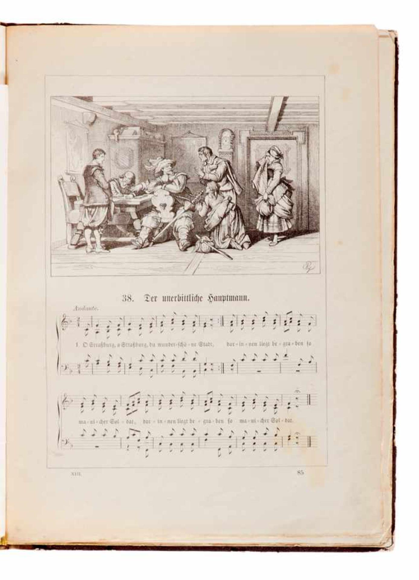Scherer - Subscriptions-Liste zu G. Scherer's illustrirten Deutschen Volksliedern. - Bild 3 aus 3
