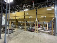 3,200 LB DEGAS COFFEE SILOS WITH NITROGEN DEGASSING, SERIES 3000, 160 FT3 USUABLE CAPACITY, 6' X